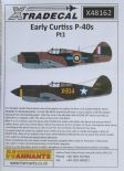 X48162  1/48 Early Curtiss P-40B Tomahawk Pt 1 decals (6)